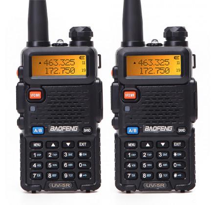 Комплект Радиостанций Baofeng UV-5R (8W) три режима мощности (2 шт.)